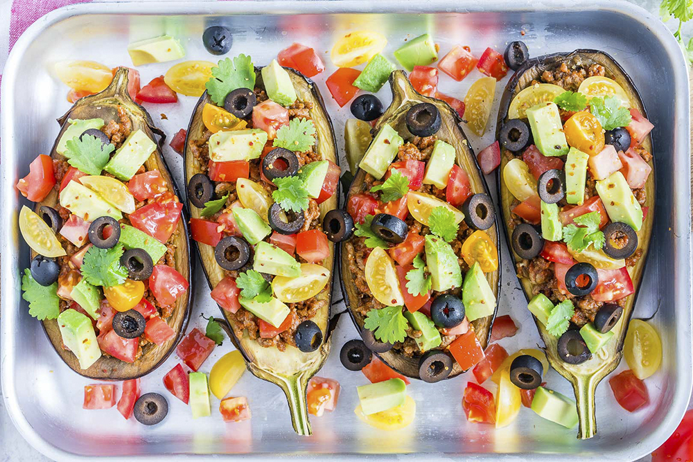 Eat-Clean-Taco-Stuffed-Eggplant-Boats