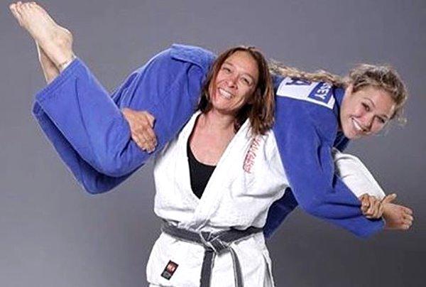 Me con Ronda Rousey