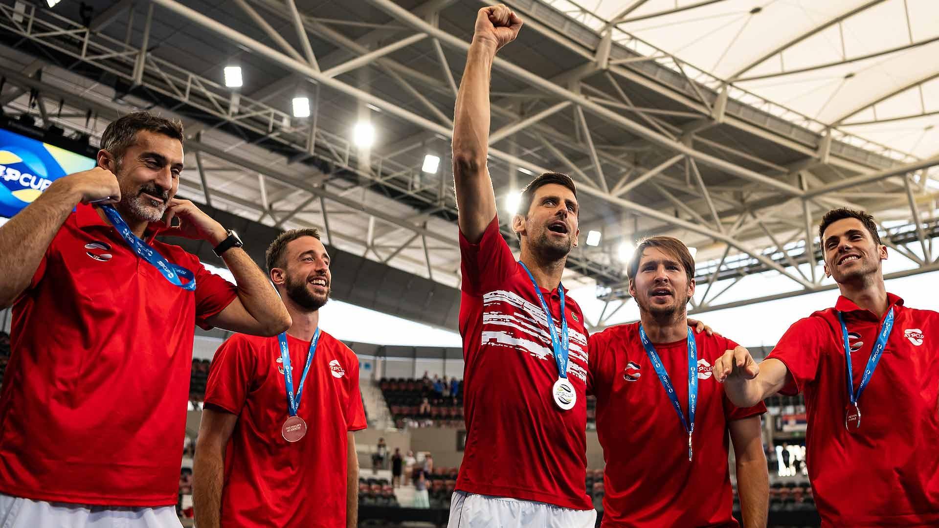 Djokovic-serbia-medal-brisbane-atp-cup-2020-ceremony
