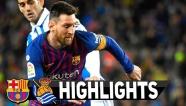 Highlights: Barcelona 2-1 Real Sociedad (La Liga)