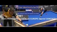 Video Daniel Sanchez khuất phục Trần Quyết Chiến ở carom 3 băng Ceulemans Cup
