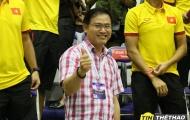 Bầu Tú futsal tươi rói khi đội bóng rổ của mình thắng lớn
