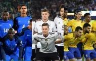 Năm ứng cử viên sáng giá nhất cho chức vô địch World Cup 2018