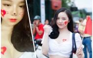 Chào mừng U23 Việt Nam, 'hotgirl ngủ gật' đăng ảnh khoe ngực khủng