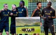 Lukaku lộ biểu cảm khó đỡ trên sân tập tuyển Bỉ