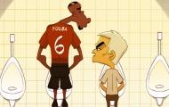 Biếm họa: Sir Alex lại nhập viện vì MU, Mourinho và Pogba lườm nguýt nhau trong nhà vệ sinh