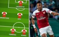 Arsenal dùng đội hình nào để hướng tới chiến thắng thứ 12?