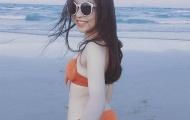Làm nóng hậu trường AFF Cup, bạn gái Quang Hải khoe bikini gợi cảm