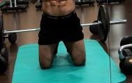 Sau Ronaldo, Salah khoe chiến tích trong phòng tập gym