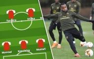 Arsenal dùng lại đội hình thắng Man Utd ở Europa League?