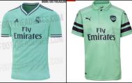 Rò rỉ mẫu áo đấu mới của Real Madrid, trông không khác gì... Arsenal