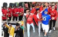 Fan hâm mộ Arsenal và Chelsea 'đại chiến' trên đường phố Baku