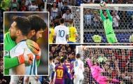 Chưa đầy 1 năm rưỡi, Alisson Becker 3 lần chặn đứng giấc mơ của Messi