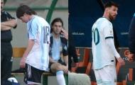 Khán giả cùng nói một câu sau khi Messi bị đuổi vì thẻ đỏ