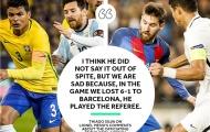 SỐC! Thủ quân Brazil nói thẳng Messi thâu tóm trọng tài