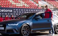 Lionel Messi và dàn sao Barcelona bên xế hộp Audi bắt mắt