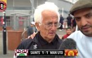 CĐV lớn tuổi của M.U bật khóc sau trận hòa Southampton