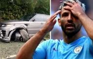 SỐC! Aguero gặp tai nạn trên đường đến sân tập, xe vỡ nát