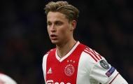 'Những cầu thủ mới của Ajax chưa đủ sức thay Frenkie de Jong'