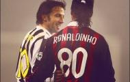 Ronaldinho lập cú đúp vào lưới Juventus