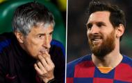 Nhìn Messi 'cháy' hết công suất, Setien xót xa nói một lời