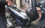 Honda SH bốc cháy, chủ xe vứt xe chạy thoát thân
