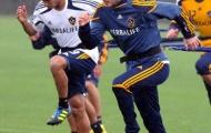 Beckham đội mưa tập luyện trong ngày trở về LA Galaxy
