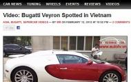 Bugatti Veyron về Việt Nam 'chấn động' webstie nước ngoài
