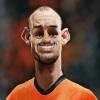 Chùm ảnh biếm họa Wesley Sneijder: 'Trái tim của Inter'