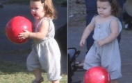 Harper Beckham bộc lộ máu thể thao giống bố