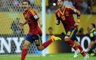 Chùm ảnh: Tây Ban Nha giành chiến thắng nhẹ nhàng trước Uruguay