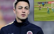 Video: Cầu thủ Sparta Prague B chơi trội đánh mông ghi bàn