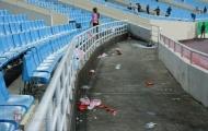 Mỹ Đình hóa 'bãi rác' khổng lồ sau trận thua của tuyển Việt Nam