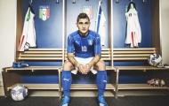 Tuyển Italia trình làng áo đấu kẻ sọc lạ mắt dự EURO 2016