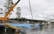 Công trình phục vụ môn đua thuyền Olympic bị sập