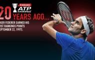 """Federer nói gì trong ngày kỷ niệm 20 năm """"ghi dấu"""" trên BXH ATP?"""