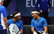 Thắng đánh đôi, Nadal và Federer thoải mái vui đùa