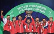 Djokovic chúc mừng chiến tích của Croatia ở Davis Cup