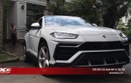 Siêu SUV Lamborghini Urus màu trắng 'chễm chệ' trong sân nhà đại gia Minh Nhựa