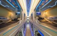 Trải nghiệm khoang hạng thương gia trên xe bus giường nằm Thaco Mobihome thế hệ mới
