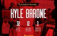 Kyle Barone bùng nổ, Saigon Heat vẫn gục ngã trước Malaysia Dragons
