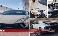 Siêu xe Lamborghini Huracan Performante 'vỡ đầu' trong vòng chưa đầy 'một nốt nhạc' sau khi tăng tốc