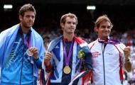 Federer gửi lời chúc đến Murray và Del Potro