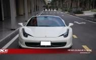 Cận cảnh siêu xe Ferrari 458 Spider Hotgirl Sài Thành mới tậu