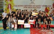 Bóng chuyền nữ Việt Nam giành ngôi á quân tại VTV Cup