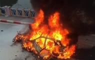 Xe sang gây tai nạn liên hoàn, bốc cháy dữ dội, 1 người tử vong tại Hà Nội