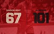 Tân binh ra mắt, Saigon Heat nhận trận thua cách biệt 34 điểm
