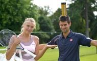 Sharapova và Djokovic từng thách đấu cho bữa ăn tối
