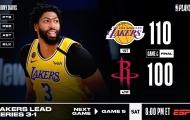 Kết quả NBA 11/9: Harden 'xuống tay', Rockets gục ngã trước Lakers