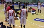 Cận cảnh chấn thương nặng của 2 cầu thủ bóng rổ Saigon Heat